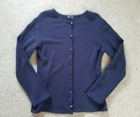 Ladies Dark Violet Blue Cardigan Lightweight Top Jumper Size S/M UK 10 Used