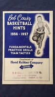 Vintage Bob Cousy Basketball Hints 1956-1957 Booklet