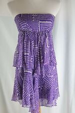 BCBG Maxazria strapless dress size S Purple sheer Print Cocktail Special Occassi