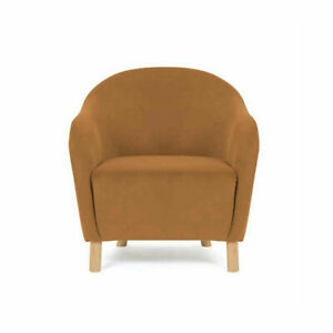 Velvet Chair Caramel, Suitable For Indoor Style Of Your Home Decor T1