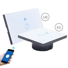 US Sonoff Touch WiFi Wireless Luxury Glass Panel Touch LED Light Smart Swtich E