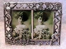NEW Dasha Dance Pewter Double Picture Frame 2.5 X 3.5