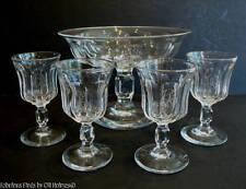 Antique c.1880-1905 Crystal Syllabub Compote Glasses Cordials Wine Custard