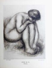 Pierre Auguste Renoir Heliogravure Limited Etude de Nu 1921
