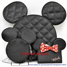 Disney MICKEY MINNIE Coin Purse Bag Handbag Women Girl Cardholder Mouse Ears UK