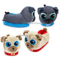 DISNEY Store Plush SLIPPERS for KIDS Disney Junior PUPPY DOG PALS Bingo & Rolly