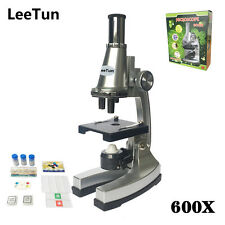 Birthday Gift 600X Toy Monocular Children Biological Microscope with Accessories