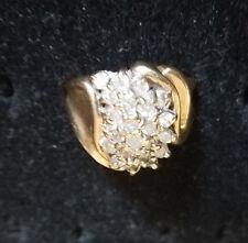 RING - SHOWY Women's Diamond Ring w/ Over 1 Ct. of Diamonds & 10k Gold Band Sz10