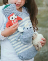Chunky Animal Toy Hot Water Bottle Cover - Sheep/Mouse/Owl - Knitting Pattern