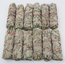 "12 White Sage Smudge Stick / Wands 4 to 5 "" House Cleansing Negativity Removal"