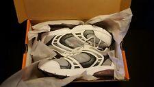 Avia Women's Mesh Athletic Walking Shoe w/Air Heel White/Grey/Pink A6555WWSQ NIB