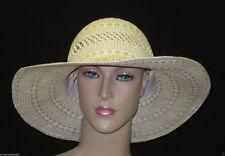 Chapeaux beige en paille pour femme