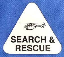 SEARCH AND RESCUE Highly Reflective HELICOPTER Helmet Decal - USAR Helo Decal