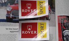 MINI COOPER S CLASSIC ROVER SPORT MPI STICKER DECAL SET RARE SPORTSPACK 1275 998