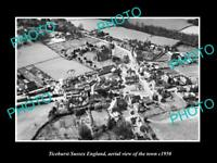 OLD LARGE HISTORIC PHOTO OF TICEHURST SUSSEX ENGLAND, AERIAL VIEW OF TOWN 1950 2