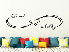 Infinity Wall Decals Custom Sign Heart Decal Family Names Sticker Bedroom FD53