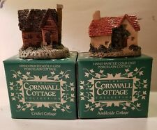 Set Of 2. New In Box Cornwall Cottages. Cricket & Ambleside Cottage. (O41#7dr)