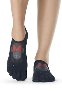 TOESOX LUNA FULL TOE 'MINNIE CONFETTI' YOGA/ PILATES/ DANCE/ GRIP SOCKS- SMALL
