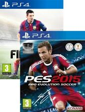 Fifa 15 and Pro Evolution Soccer 2015 PES 15 PS4 New