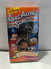 Disney Sing Along Songs Happy Haunting Party at Disneyland VHS Halloween Tape