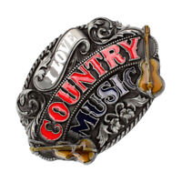 Classic Country Music Guitar Belt Buckle Western Cowboy Cowgirl