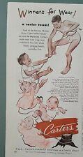 1951 Carter's girls boys underwear pajamas vintage clothing fashion ad
