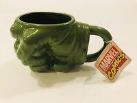 Incredible Hulk Mug Fist Ceramic Marvel New With Tags and Original Packaging Box