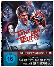 Tanz der Teufel 1+2+3 Steelbook Blu-ray Trilogie Limited Edition Uncut NEU OVP