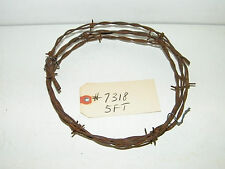 Antique Vintage 5 Ft Piece Of Rusty Barbed Wire Barb Wire Barbwire