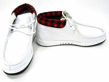 Fila Boots Metropolis Leather Tex White/Black/Red Shoes Size 8