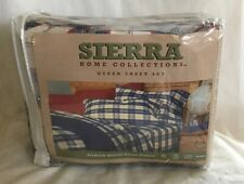 NEW Sierra Home Collection Flannel Queen Sheet Set Premium Quality NIP