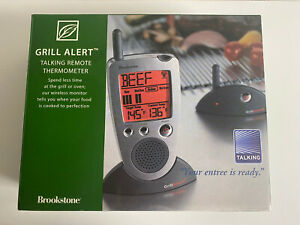 Brookstone Grill Alert Talking Remote Meat Thermometer, Grill Oven or Smoker
