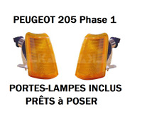 ⭐🇫🇷 NEUF 1 PAIRE CLIGNOTANTS ORANGES PEUGEOT 205 GTI CTI TOUT TYPES PHASE 1