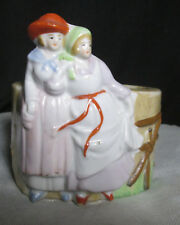 Unique Vintage Hand Painted Made in Japan Pair of Maidens Planter Vase