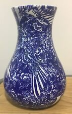 Belly vase by Samantha Robinson in royal blue and white