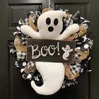 Halloween Wreath BOO Farmhouse-Ghost Wreath Outdoor Front Door Indoor Wall Decor