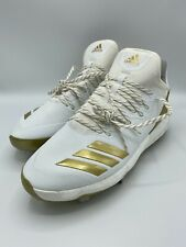 Adidas Boost Icon 4 Baseball Cleats CM8476 Size 11.5 white / gold NEW!