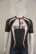 SCOTT Herren Biketrikot Fahrradtrikot Trikot Schwarz-Weiß-Rot Gr XL (L); K12 124