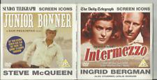 INTERMEZZO (1939) & JUNIOR BONNER (1972) - NEWSPAPER PROMO DVDs