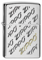 ZIPPO Feuerzeug VINTAGE ZIPPO LOGOS Brushed Chrome Logo NEU OVP Sammlerstück!!