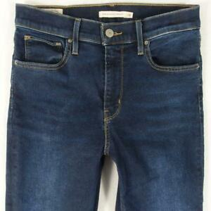 Womens Levi's 724 HIGH RISE STRAIGHT Stretch Straight Blue Jeans W28 L34 Size 8