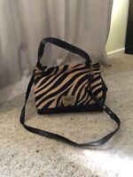 New STUNNING Badgley Mischka Leather / Pony Hair Satchel/Shoulder Bag , RRP $975