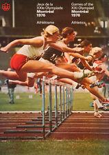 Original Vintage Poster 1976 Montreal Summer Olympics Athletics Track Field Run