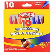 Playskool Jumbo Crayons for kids, non-toxic, 10 count Bright colors