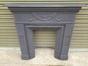 Restored Antique Victorian Cast Iron Fire Surround (2)