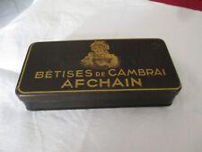 BOITE TOLE ANCIENNE BETISES DE CAMBRAI AFCHAIN