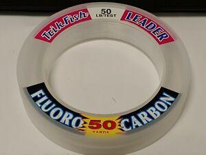 1 Spool Trik Fish FLUOROCARBON Leader Material 50 lbs. Test 50 Yards