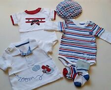 Boys Huge Lot GYMBOREE clothes 0-3 NWT Mini Aviator airplane shirt hat socks