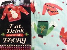 Christmas Dishtowels Ugly Sweaters (4) very good quality towels
