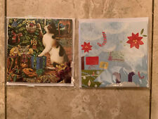Up With Paper Lot Of 2 Holiday Pop-Up Christmas Cards- Combo - Great Deal!